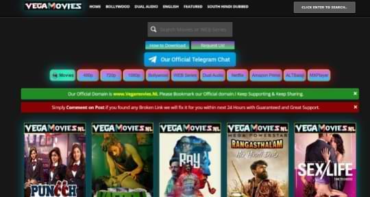 Vegamovies.NL: Download 360p, 480p, 1080p & Dual Audio Movies