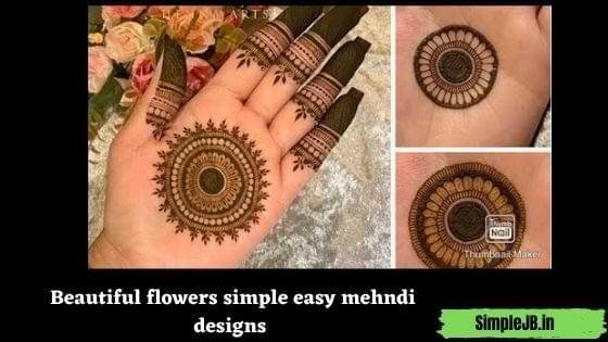Beautiful flowers simple easy mehndi designs
