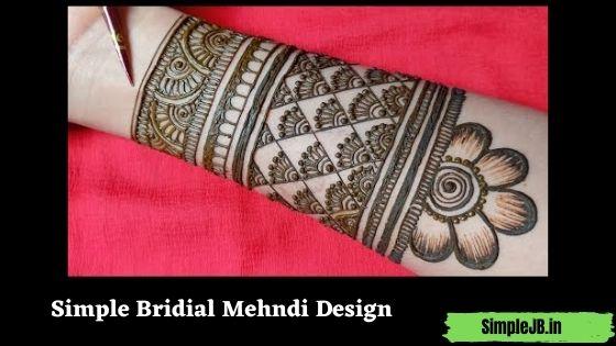 Simple Bridial Mehndi Design