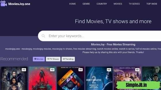 Moviesjoy free movie streaming website