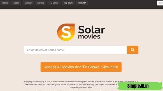 Solarmovie - Watch New Movies and Tv Shows